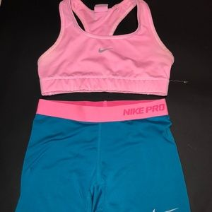 Nike Pros and Sports Bra